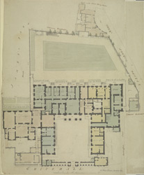 [Drawn plan of the Admiralty and property adjoining]